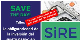 SiRE, Taller IVA reducido e inversión del sujeto pasivo en las obras