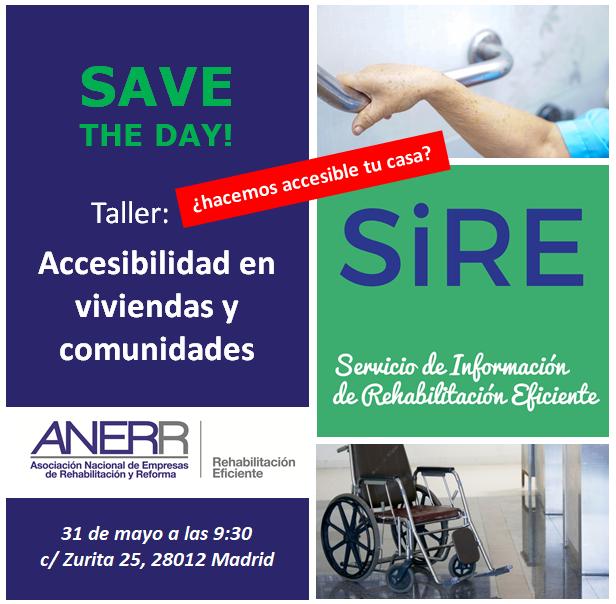Taller SiRE Servicio de Información de Rehabilitación Eficiente, accesibilidad