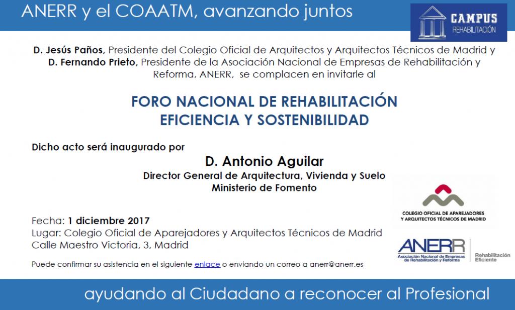 01 Dic Foro Nacional De Rehabilitacion Eficiencia Y